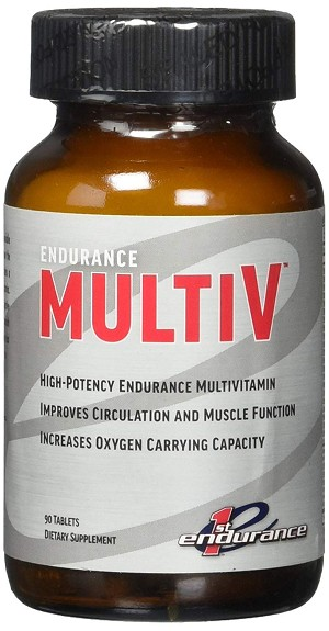 New & Improved First Endurance, Endurance Multi-V with Carbogen® 90 Tablets